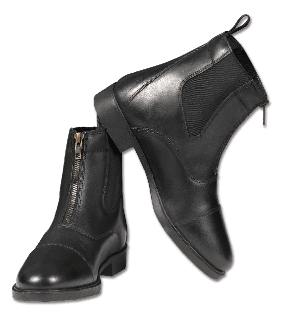 ST06 Leder-Stiefelette, Zipp